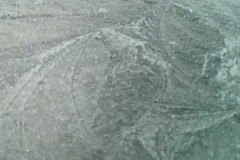 ice patterns on a car roof