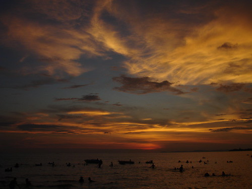 sihanoukville beach sunset