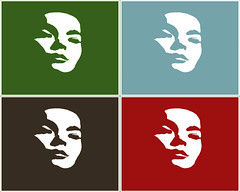A Warhol-esque print of Björk by brainslide.