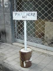 park here no