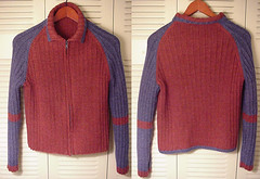 Ribby Cardi Front & Back