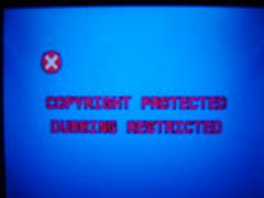 sony dubbing restriction message