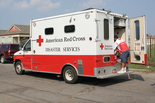 The Red Cross shows up