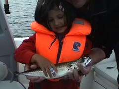 Tatyana's first fish