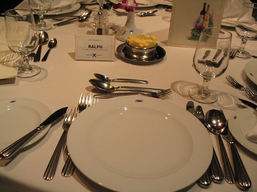 Table setting on Celebrity Cruises
