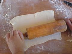 Trouxinhas/Bombons de queijo feta em massa folheada
