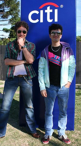 Monoto y Ale Sergi en el Personal Fest