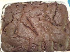 Bolo de chocolate com pêra
