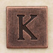 Copper Square Letter K