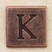 Copper Square Letter K
