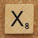 Wood Scrabble Tile X