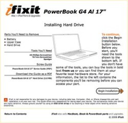 "PowerBook G4 Al 17"" Disassembly: Installing Hard Drive - PowerBook Parts"