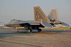 F-22 Raptor on the ground