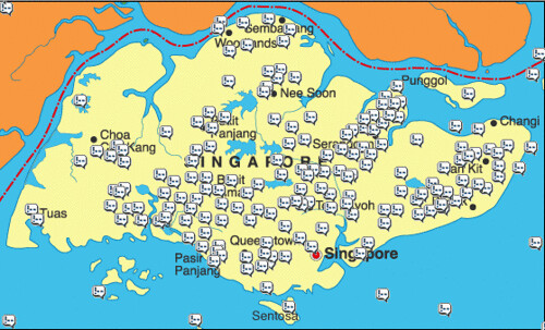 Singapore Bloglocator Map