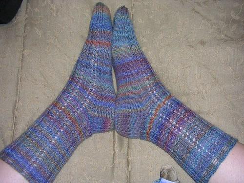 lace trekking socks