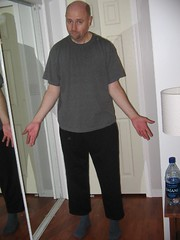 Mysteriously shrinking sweat pants