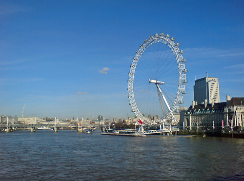 London Eye and the Thames