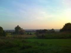 Bradlaugh Fields, Northampton at Dusk.