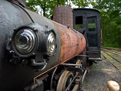 An original narrow-gauge steam engine