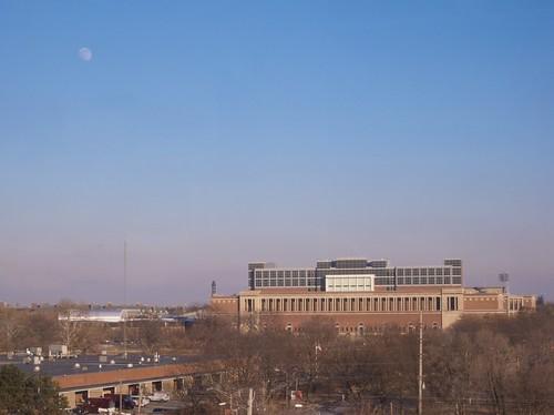 Moon over Memorial Stadium