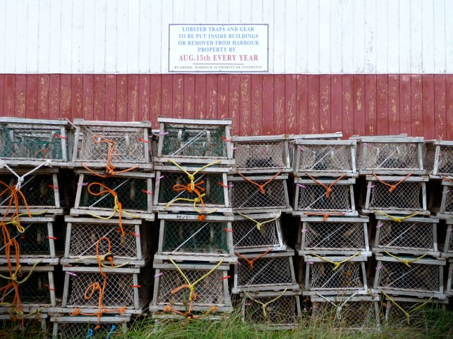 Lobster traps in Inverness, Nova Scotia