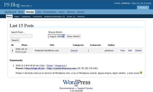 Manage [wordpress.com]