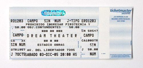 Dream Theater ticket