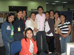 Newsroom gals with Dennis Trillo