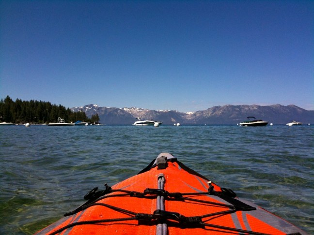 Kayaking in Zephyr Cove