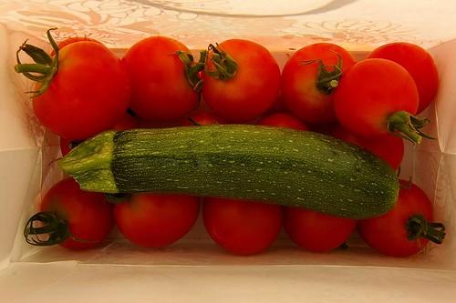tomato & zucchini