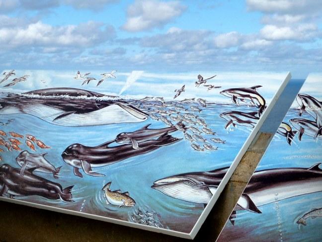 Artwork along Cabot Trail on Cape Breton Island