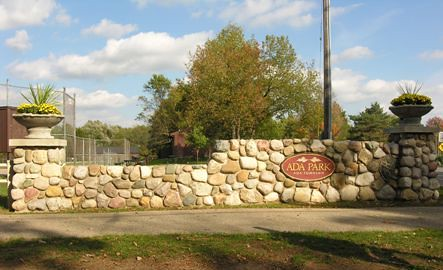Ada park entrance sign