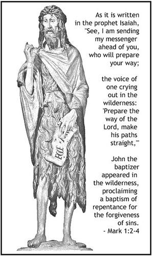 John the Baptist - Mark 1-2-4