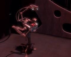 Escena del Robot Máquina de Escribir