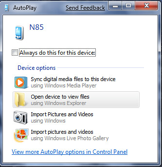 2009-01-22_1923 - N85 in PC Suite in Windows 7