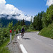 Cycling up Col des Montets
