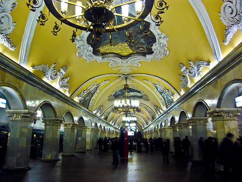 Komsomolskaya Metro Station, Moscow