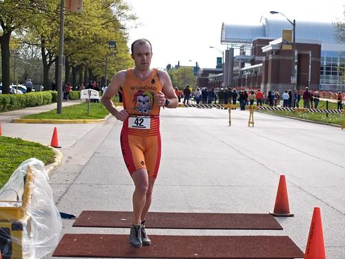 Rob crosses the finish line