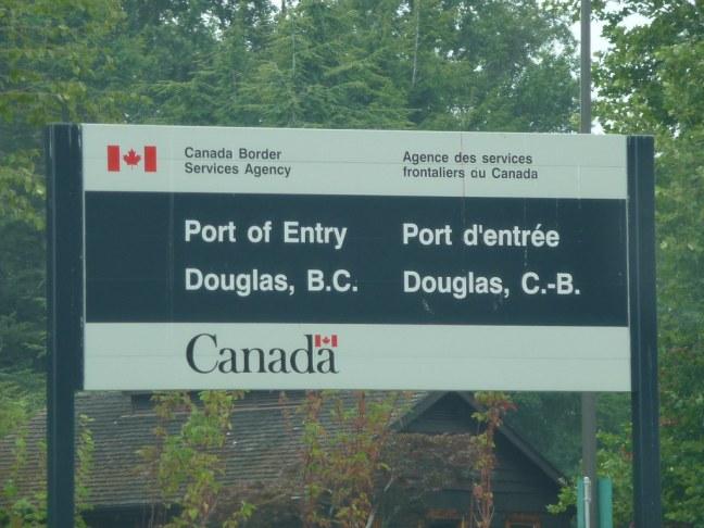 Entrance to Canada