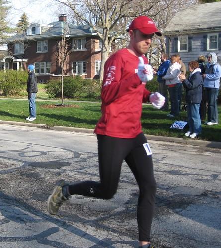 Rob 3 miles into marathon