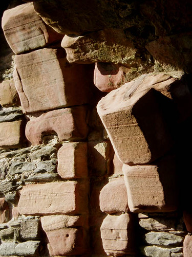 Skipness Castle gate - detail and shadows
