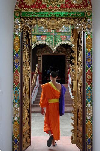 Un moine a Chiang Rai