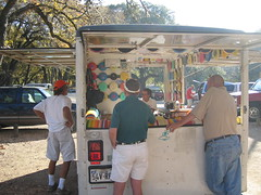 Booth selling disc at Pease Park