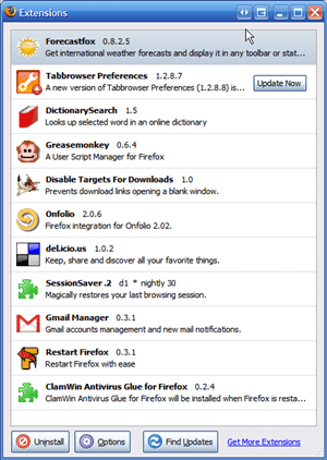 My Firefox Extensions