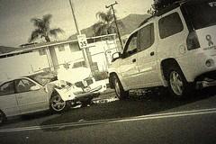 上班途中看到的車禍