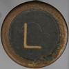 typewriter key letter L