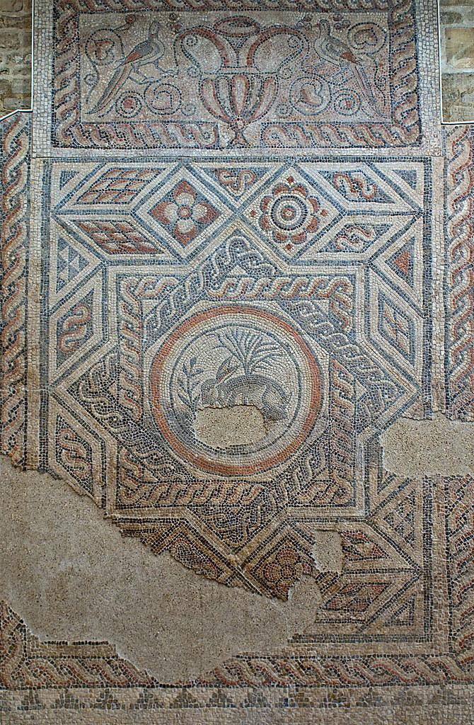 Roman hare mosaic