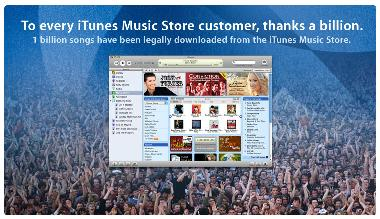 A billion iTunes songs download