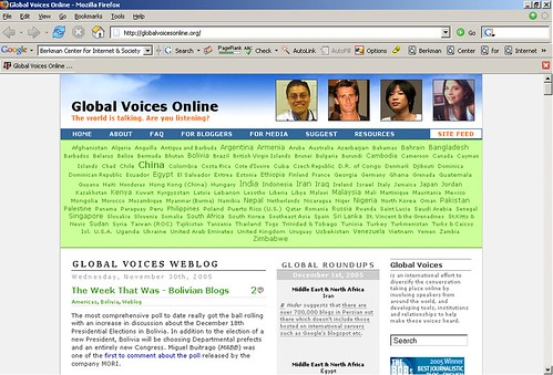 Global Voices Online Site