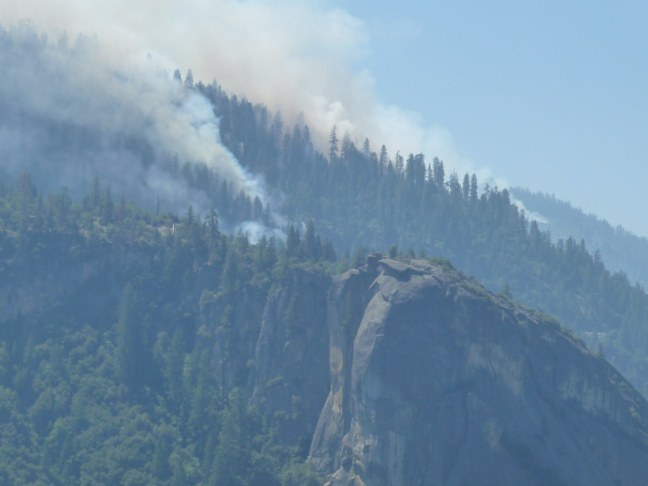 Several fires made it difficult to see some of the famous landmarks